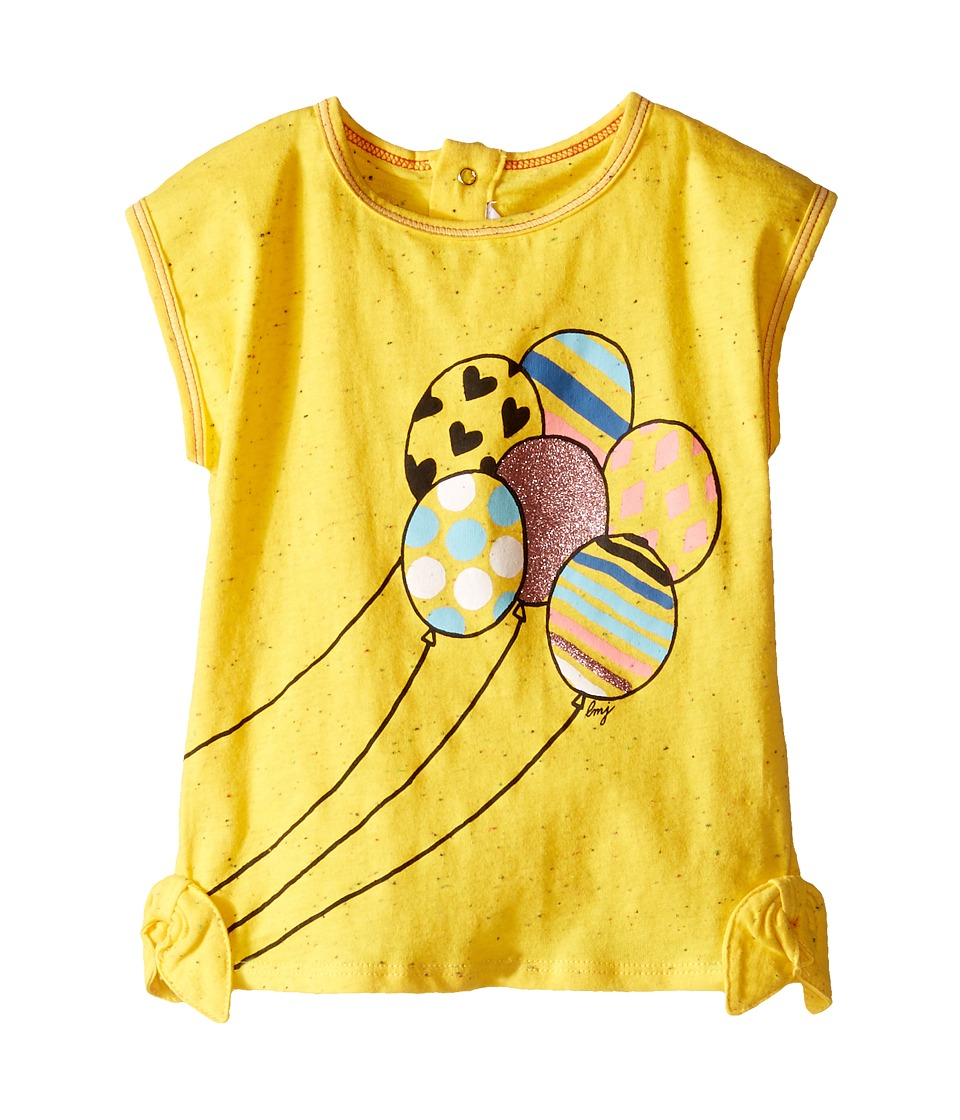 Little Marc Jacobs - Jersey Tee Shirt with Balloons (Infant) (Yellow) Girl's T Shirt