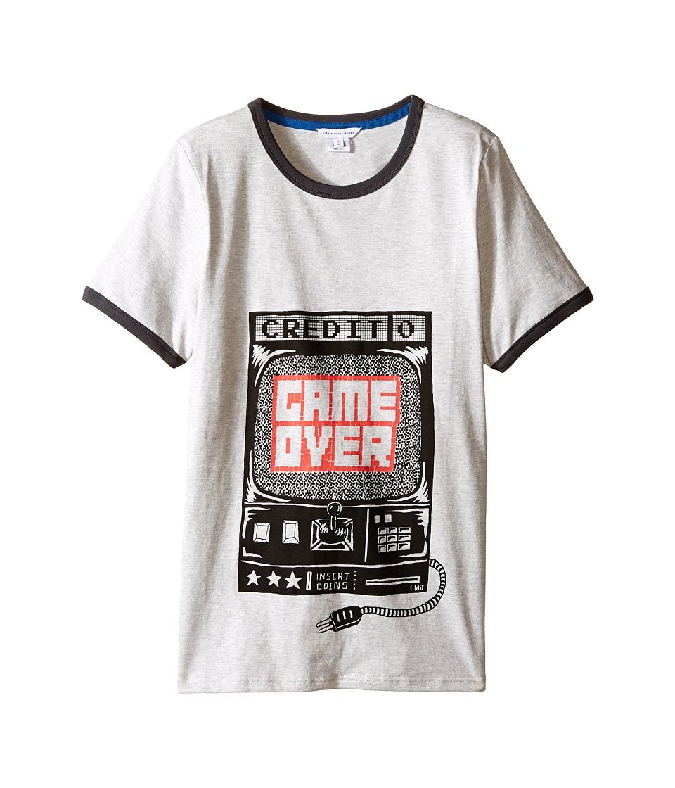 Little Marc Jacobs - Jersey Tee Shirt Game Over (Big Kids) (Grey) Boy's T Shirt