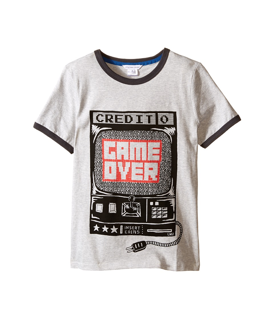 Little Marc Jacobs - Jersey Tee Shirt Game Over (Little Kids/Big Kids) (Grey) Boy's T Shirt
