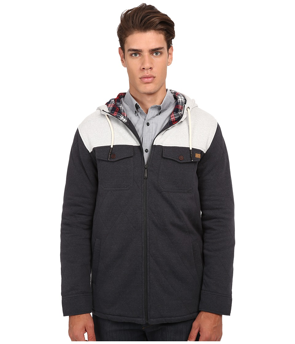 Rip Curl - Gypson Lined Z/T Hoodie (Black) Men's Sweatshirt