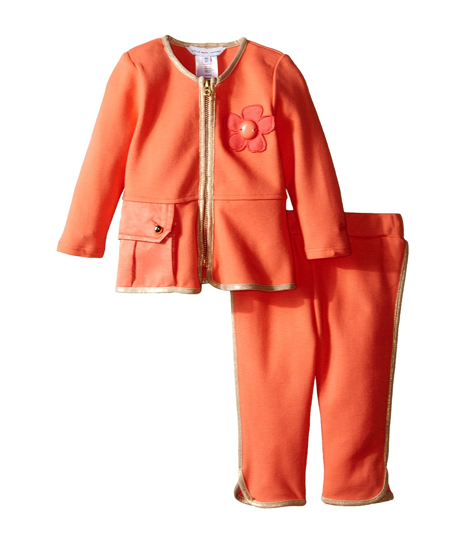 Little Marc Jacobs - Set of Joggings with Satin Pockets (Infant) (Pink) Girl's Suits Sets