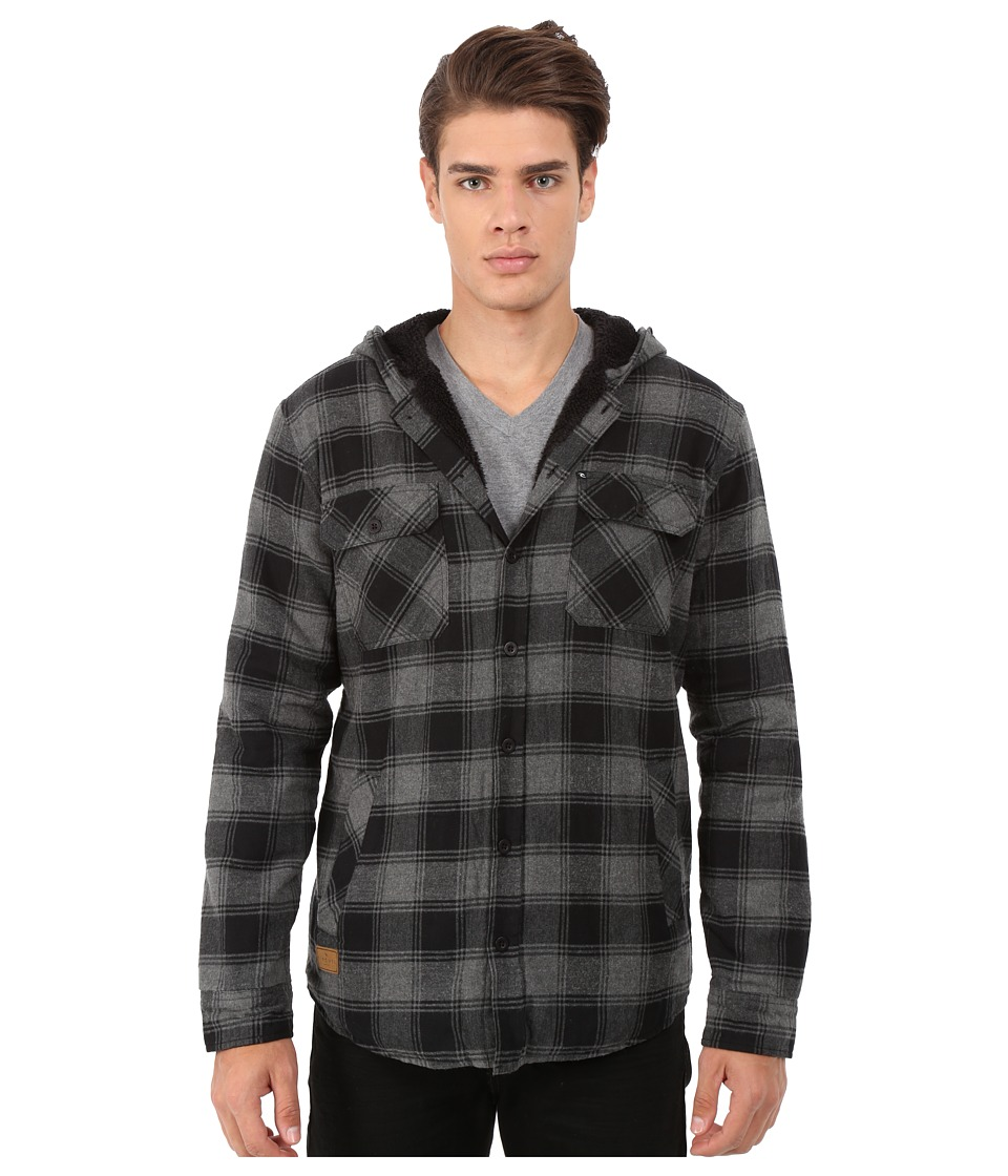 Rip Curl - Hayes Long Sleeve Flannel (Black) Men's Jacket