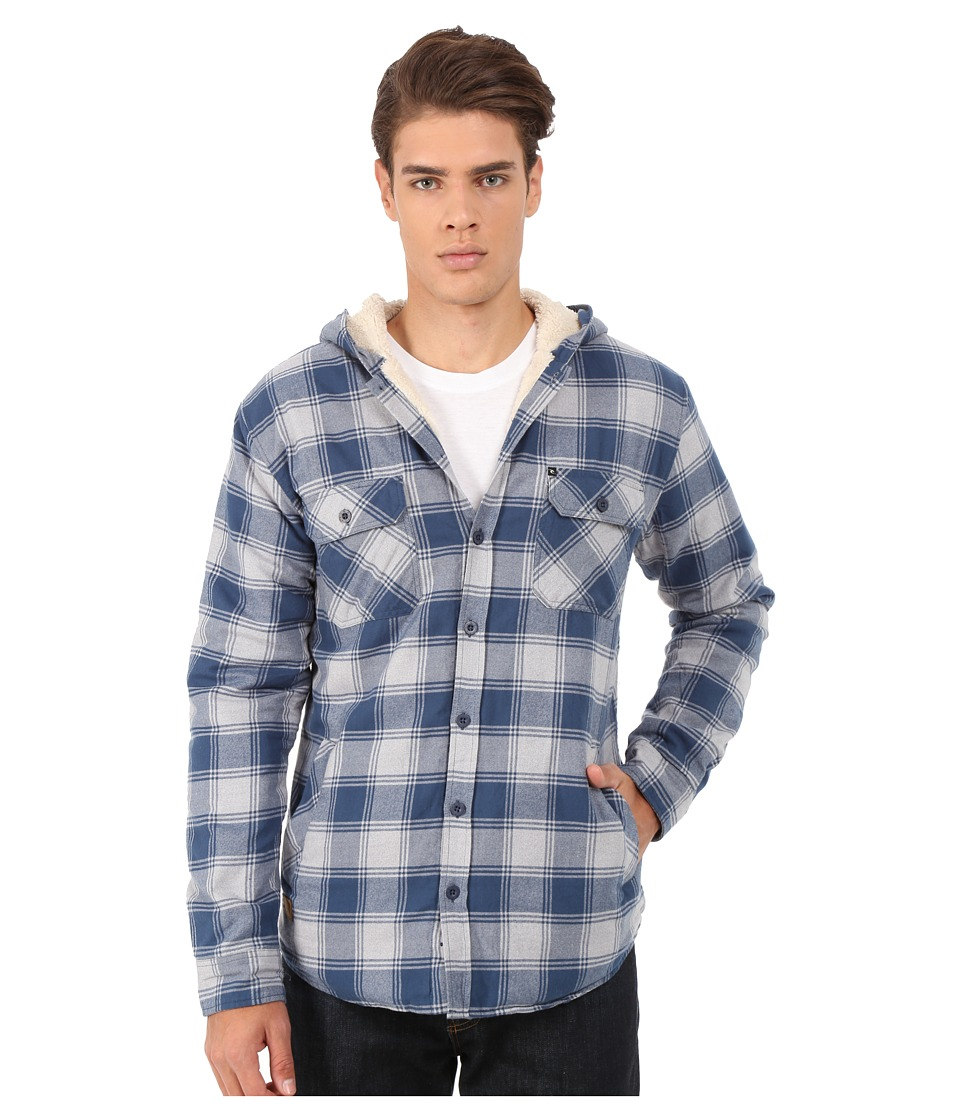 Rip Curl - Hayes Long Sleeve Flannel (Off-White) Men's Jacket