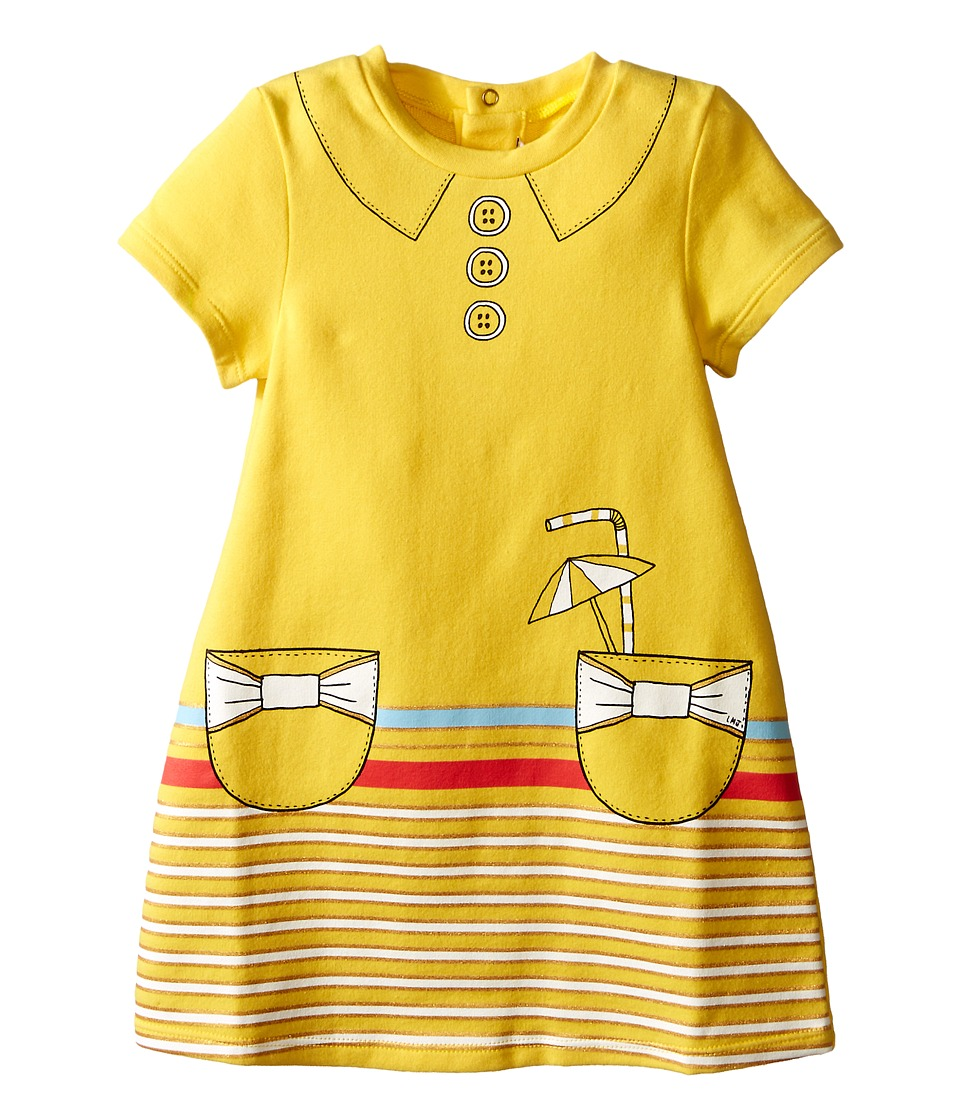 Little Marc Jacobs - Dress with Fancy Illustrations Details (Infant) (Yellow) Girl's Dress