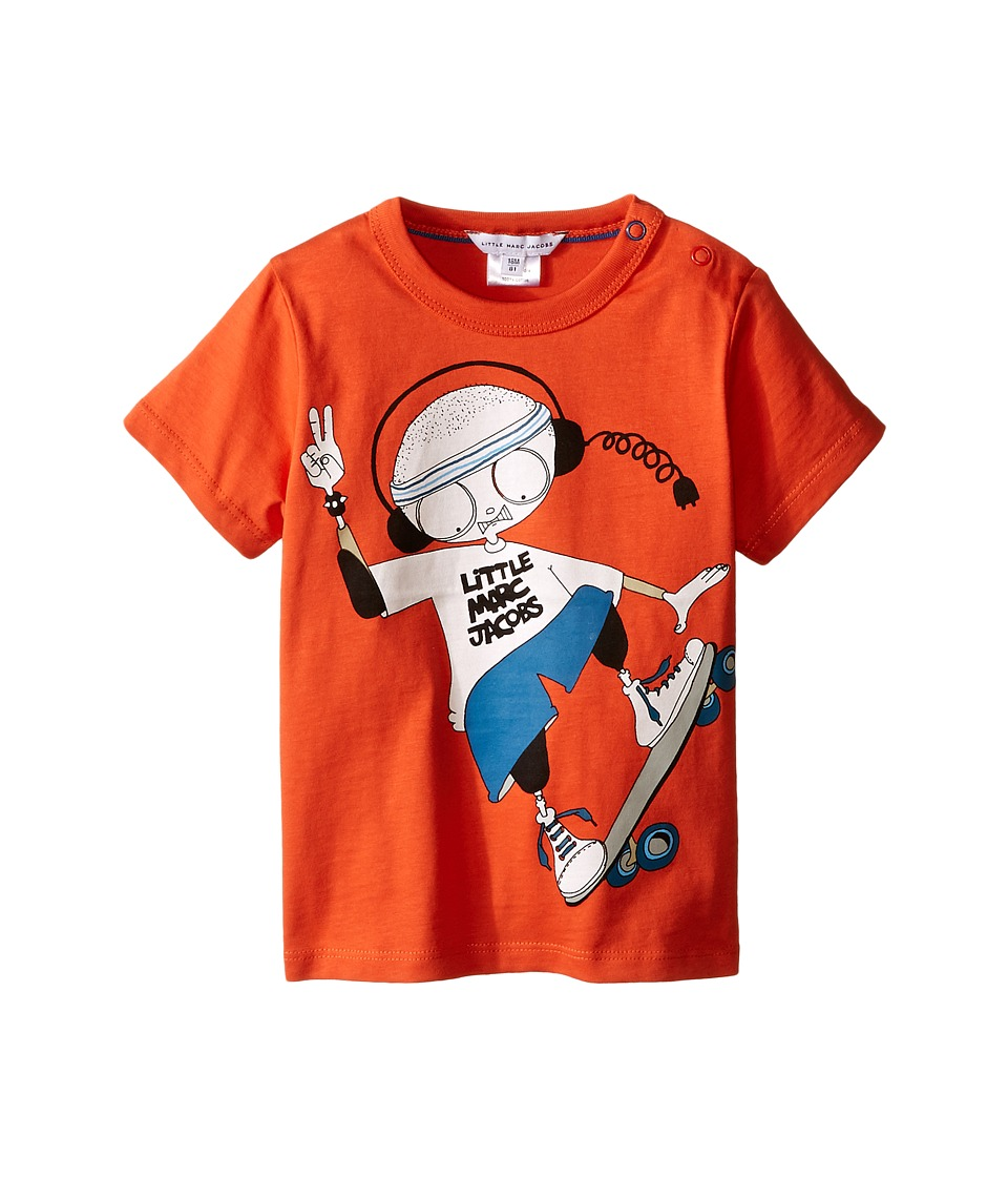 Little Marc Jacobs - Mr. Marc Graphic Tee (Infant) (Red Skate) Boy's Short Sleeve Pullover