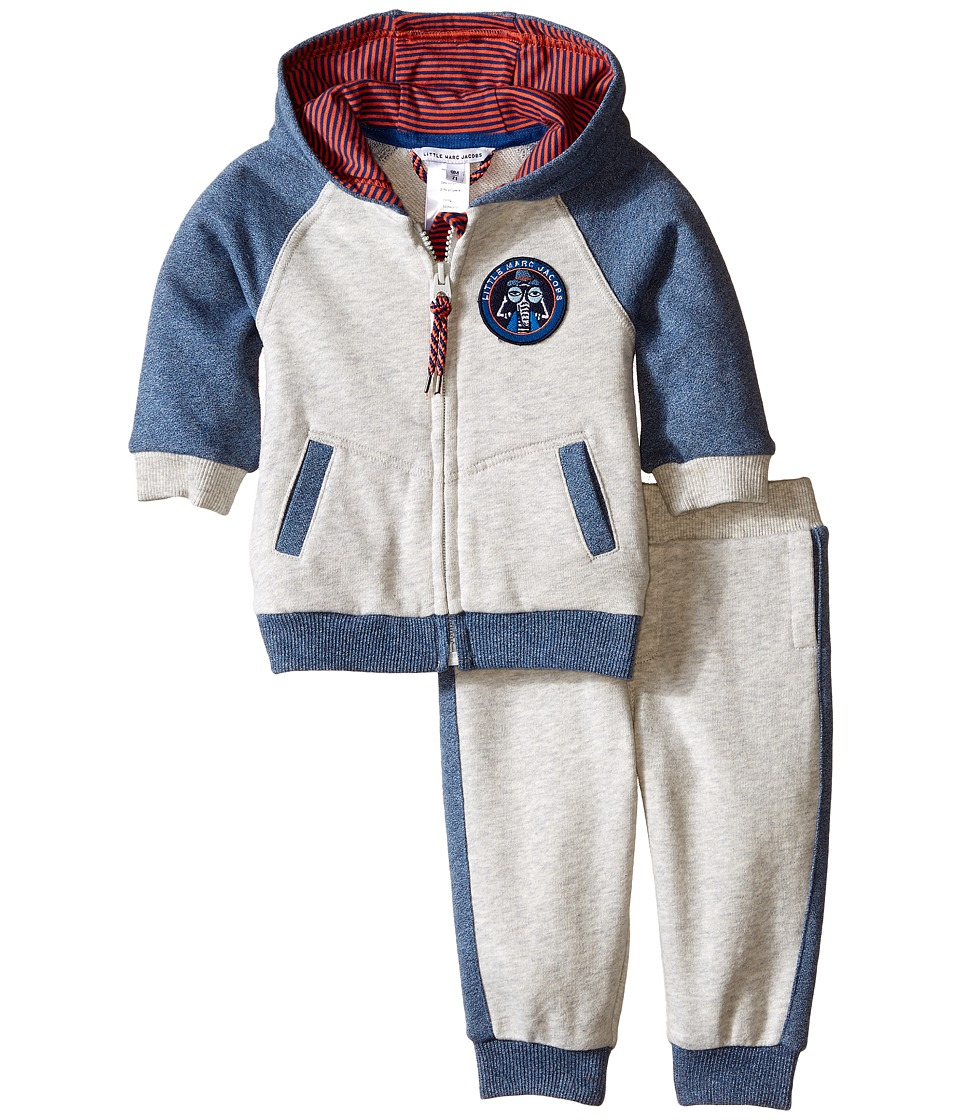 Little Marc Jacobs - Set of Fleece Jogging Grey and Blue (Infant) (Light Grey) Boy's Clothing