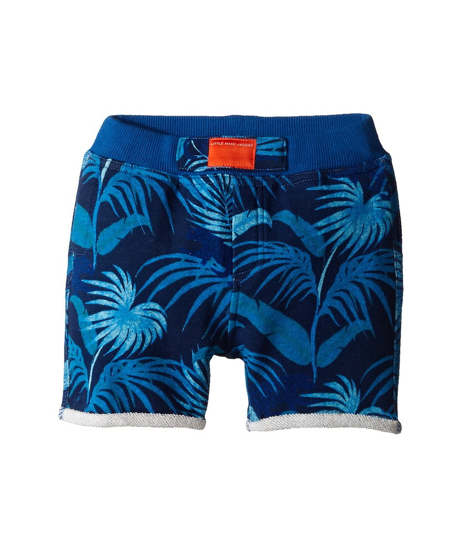 Little Marc Jacobs - Fleece Shorts All Over Printed (Infant) (Blue) Boy's Shorts