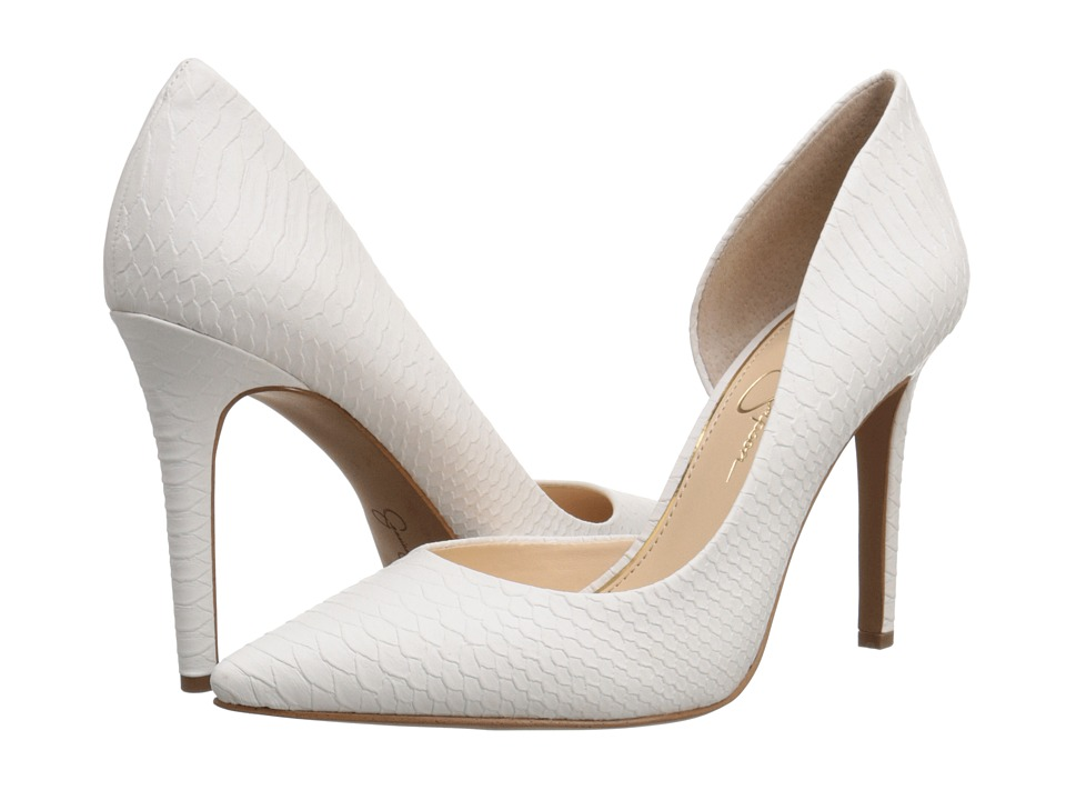 Jessica Simpson Claudette (Powder Buffed Embossed Snake 2) High Heels