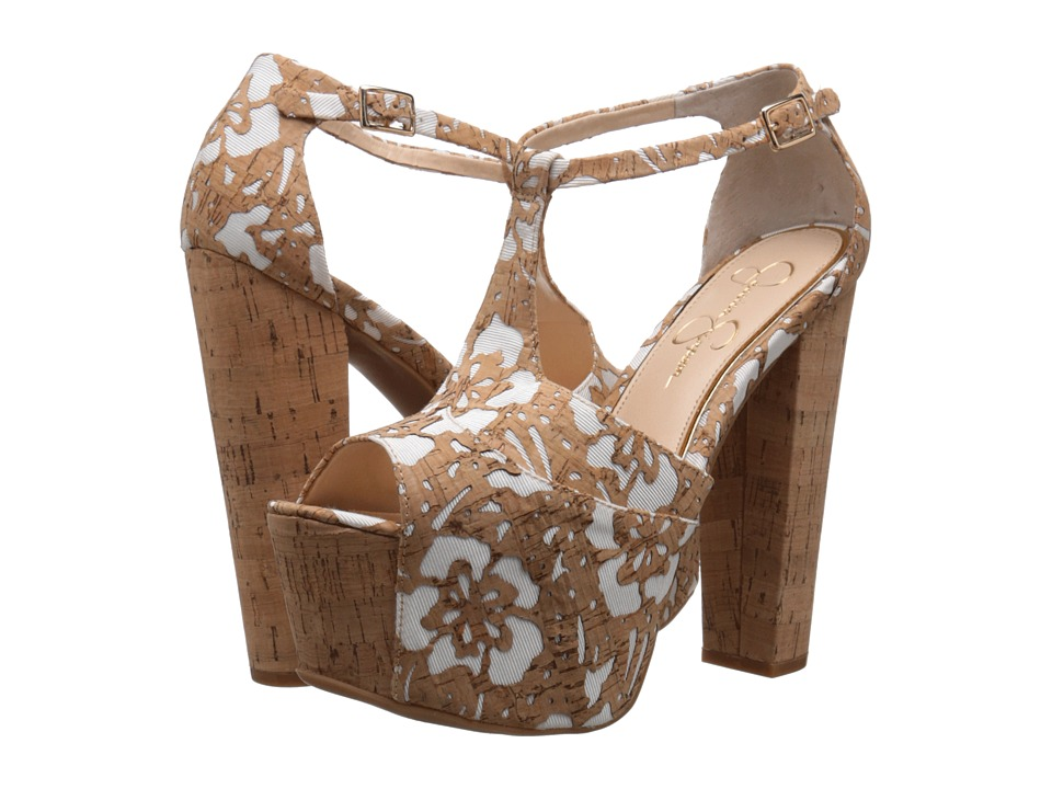 Jessica Simpson - Dany (Natural/White Floral Laser Cork) High Heels