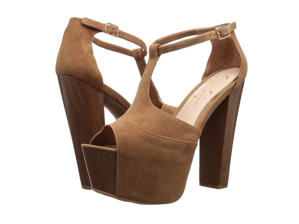 Jessica Simpson - Dany (Honey Brown Luxe Kid Suede) High Heels