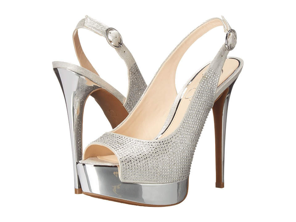 Jessica Simpson - Kabale (Pale Silver Dusty Metallic) High Heels