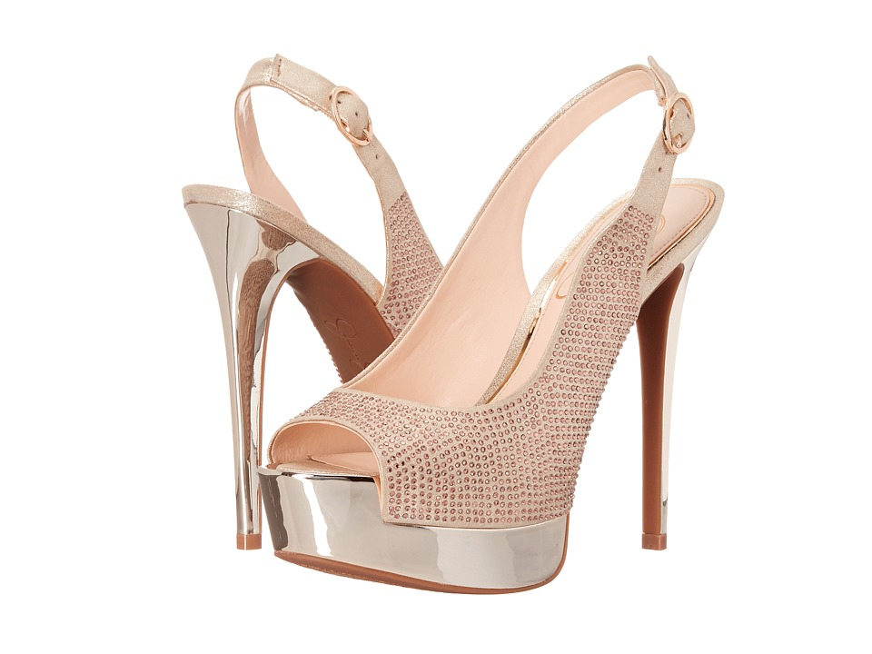 Jessica Simpson - Kabale (Pale Gold Dusty Metallic) High Heels