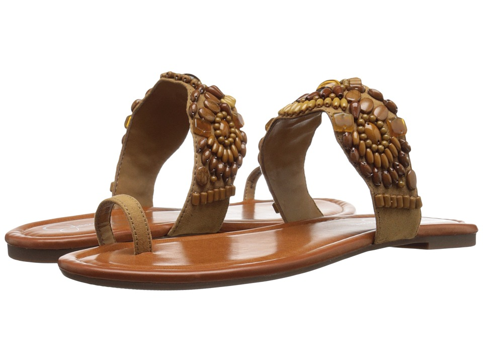 Jessica Simpson - Razzel (Honey Brown Micro Suede) Women's Shoes