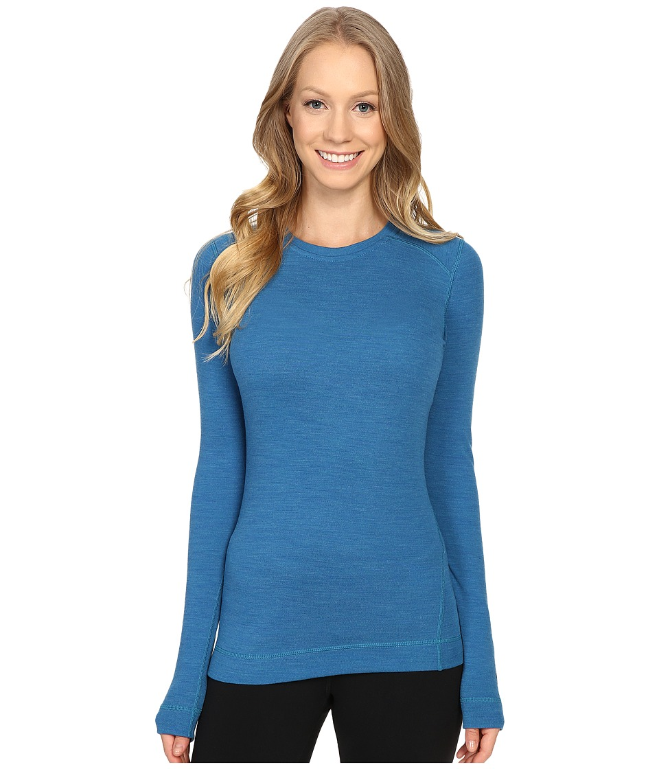 Smartwool - NTS Mid 250 Crew Top (Glacial Blue Heather) Women's Long Sleeve Pullover
