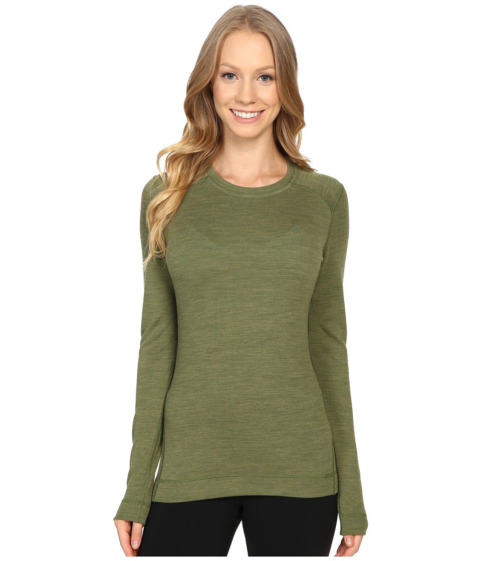 Smartwool - NTS Mid 250 Crew Top (Light Loden Heather) Women's Long Sleeve Pullover