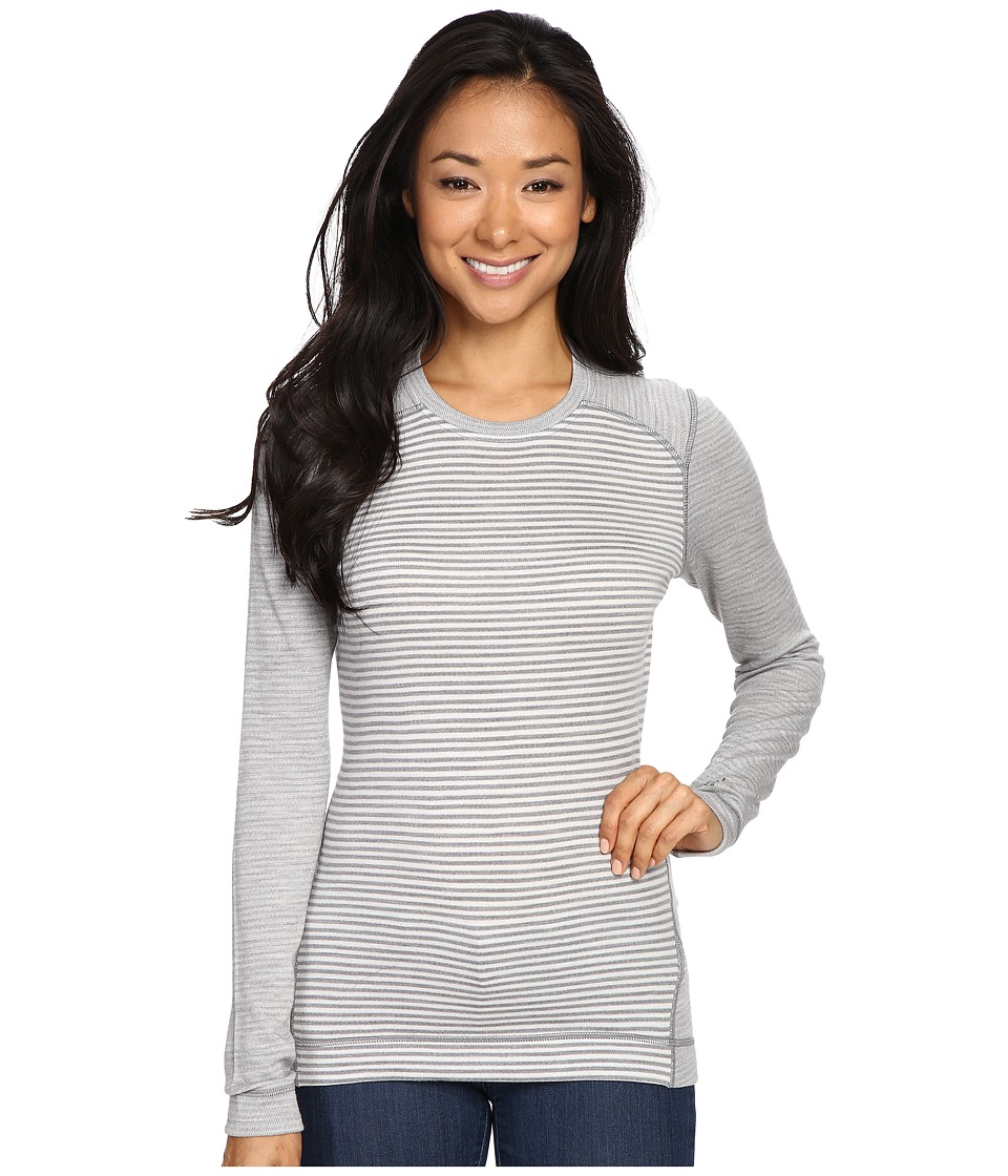 Smartwool - NTS Mid 250 Pattern Crew Top (Light Gray Heather/Natural) Women's Long Sleeve Pullover