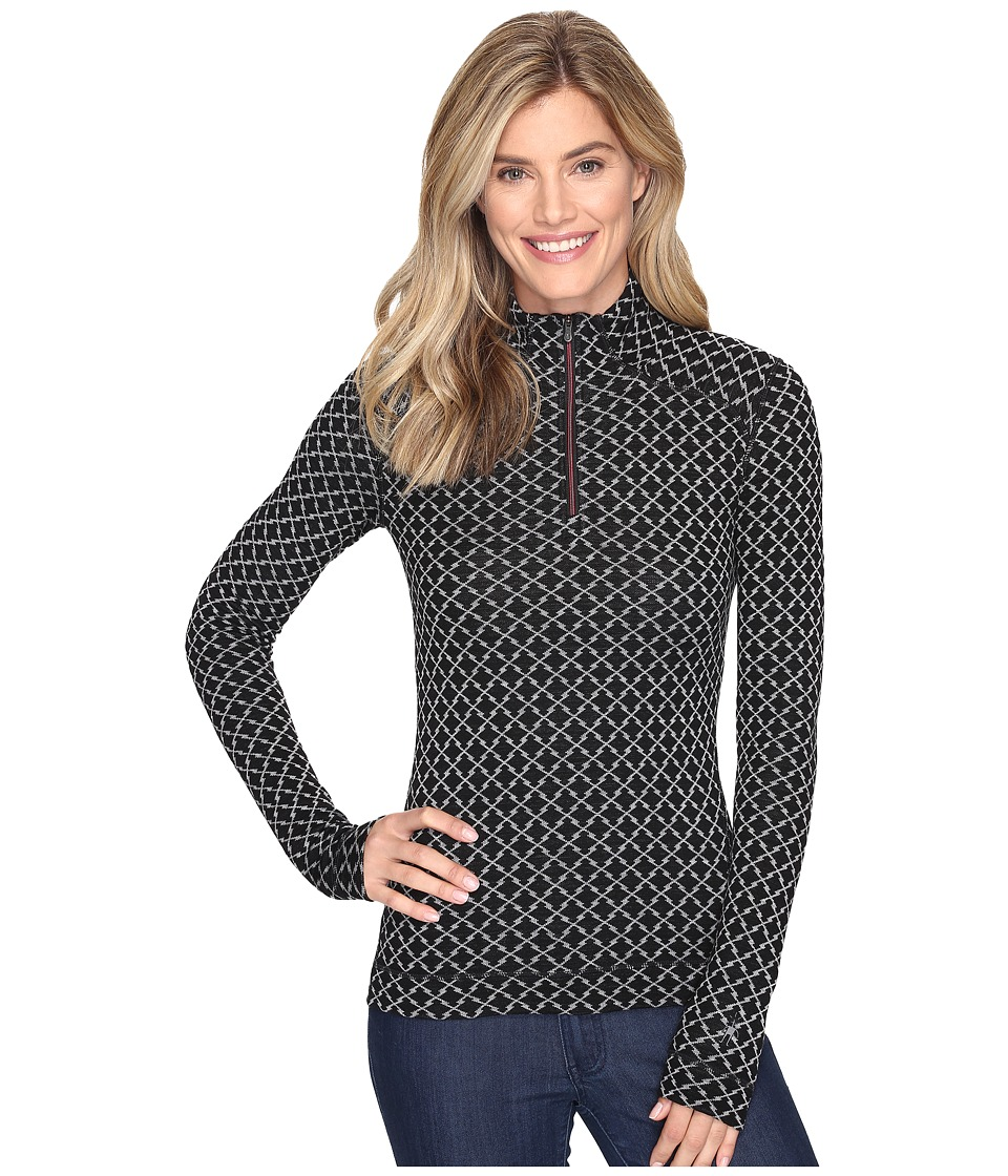 Smartwool - NTS Mid 250 Pattern Zip Top (Black/Light Gray) Women's Long Sleeve Pullover