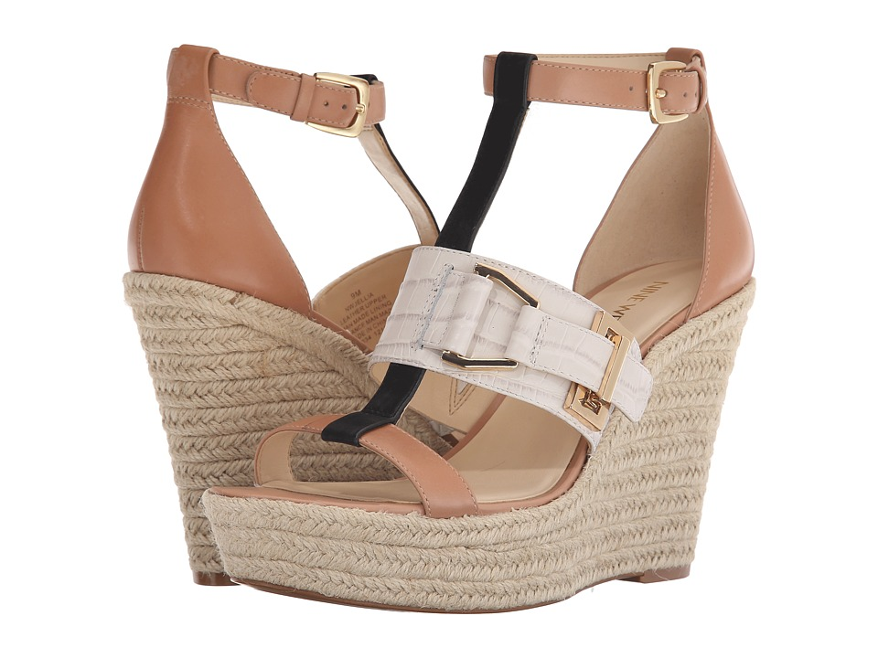 Nine West - Jellia (Natural Multi Leather) Women's Wedge Shoes