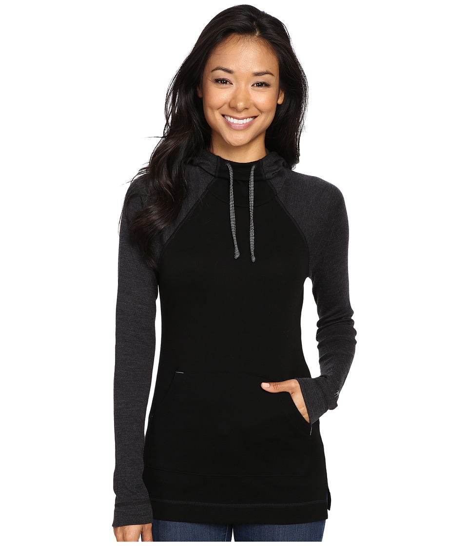 Smartwool - NTS Mid 250 Drape Neck Hoodie (Black) Women's Sweatshirt