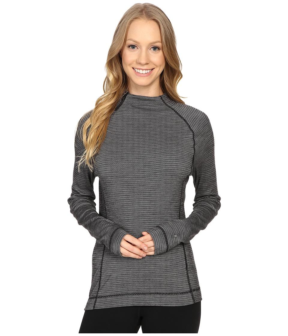 Smartwool - NTS Mid 250 Isto Sport Raglan Top (Black/Light Gray Heather) Women's Sweatshirt