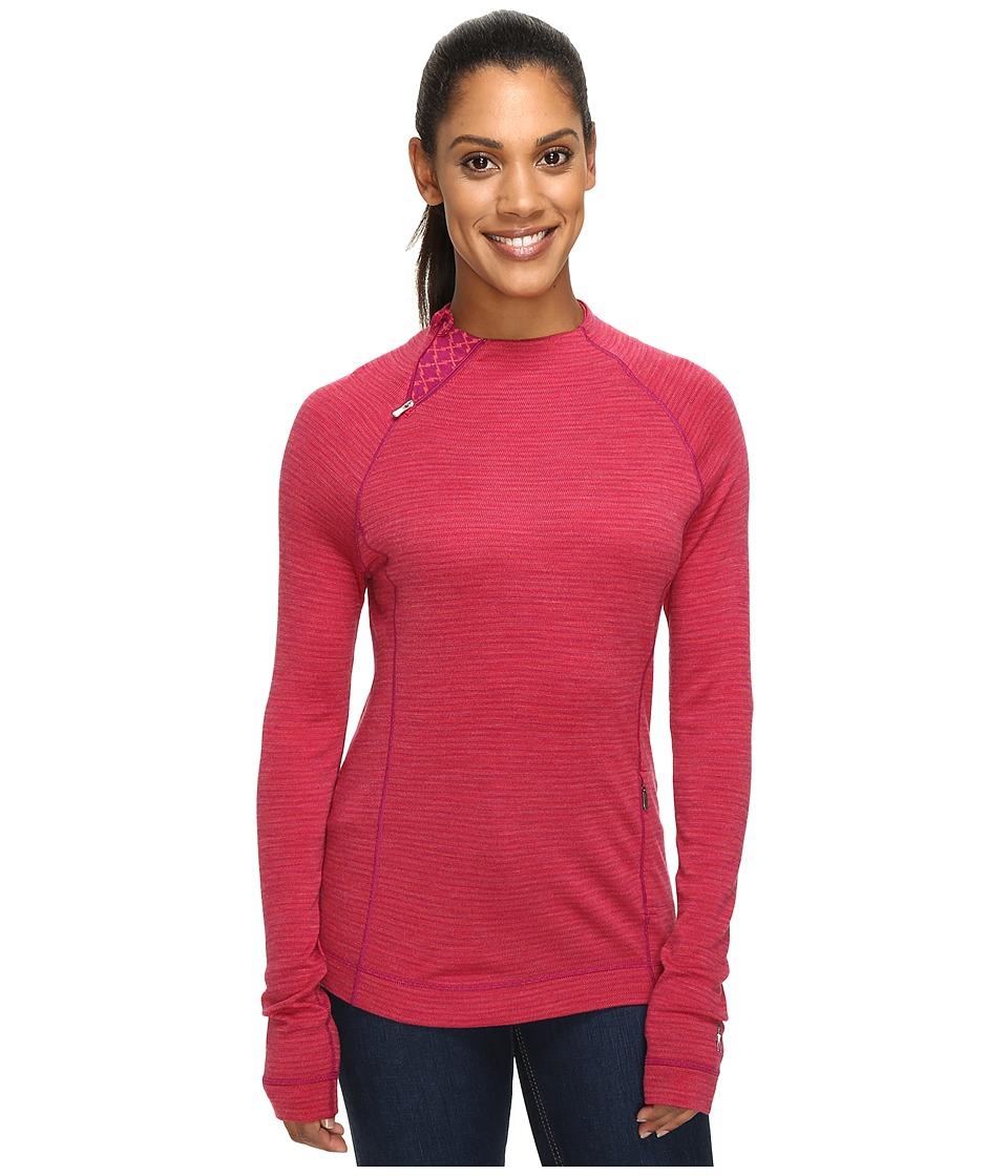 Smartwool - NTS Mid 250 Isto Sport Raglan Top (Berry Heather) Women's Sweatshirt