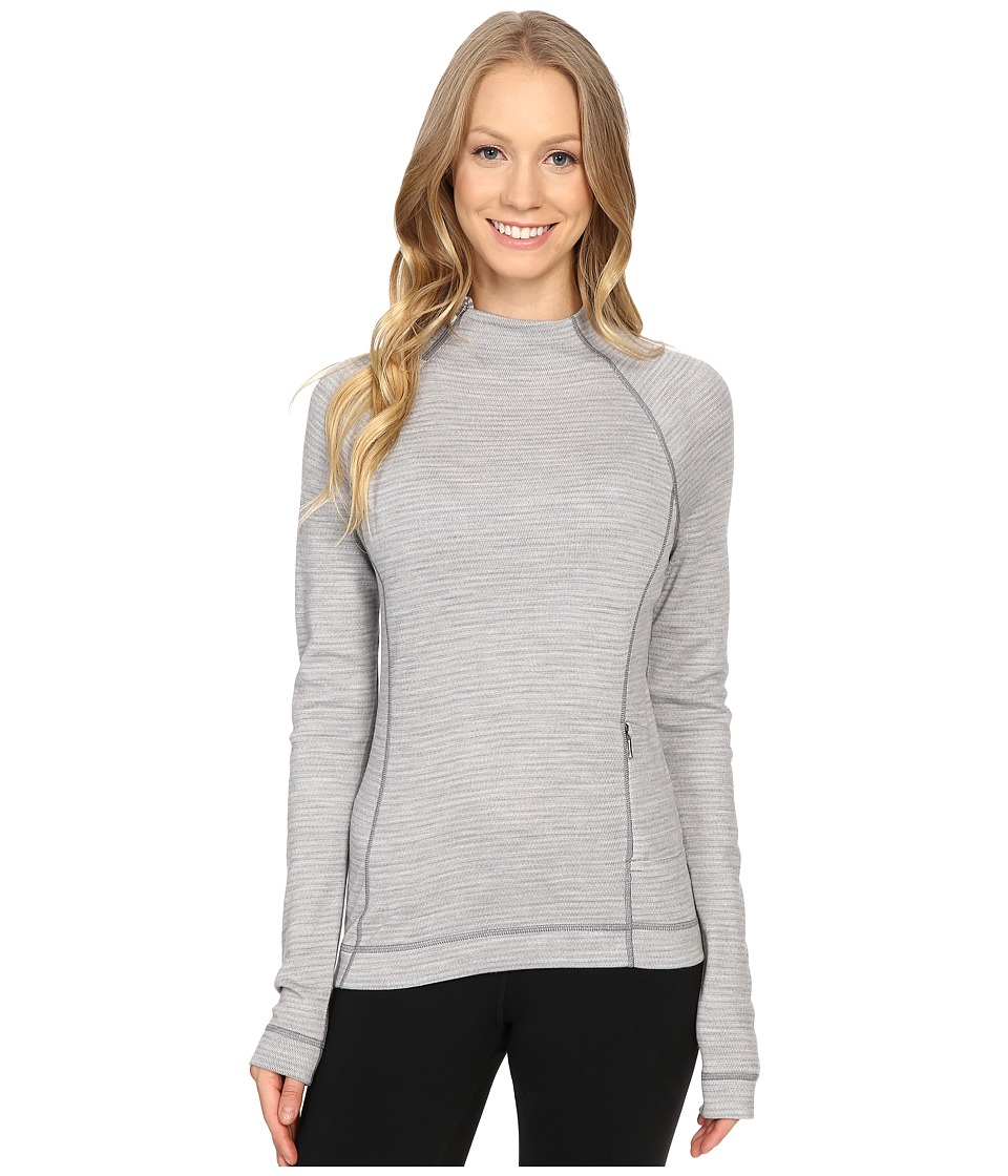 Smartwool - NTS Mid 250 Isto Sport Raglan Top (Light Gray Heather/Natural) Women's Sweatshirt