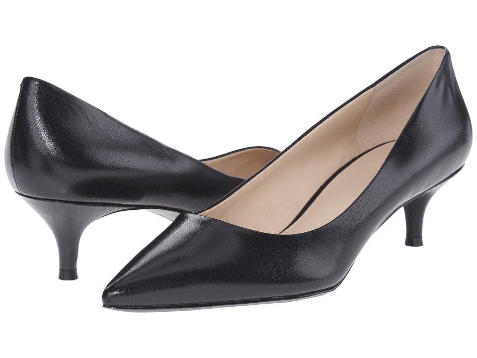 Nine West - Illumie (Black Leather) Women's 1-2 inch heel Shoes