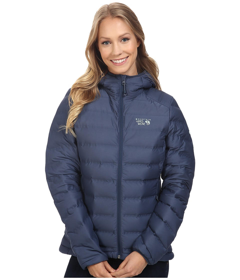 Mountain Hardwear - StretchDown Hooded Jacket (Zinc) Women's Coat
