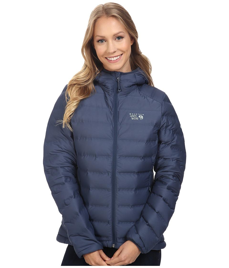 Mountain Hardwear - StretchDown Hooded Jacket (Zinc) Women's Coat
