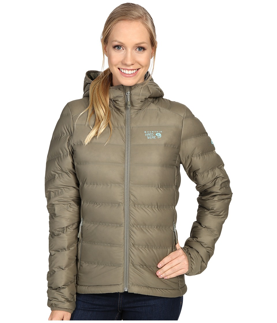 Mountain Hardwear - StretchDown Hooded Jacket (Stone Green) Women's Coat