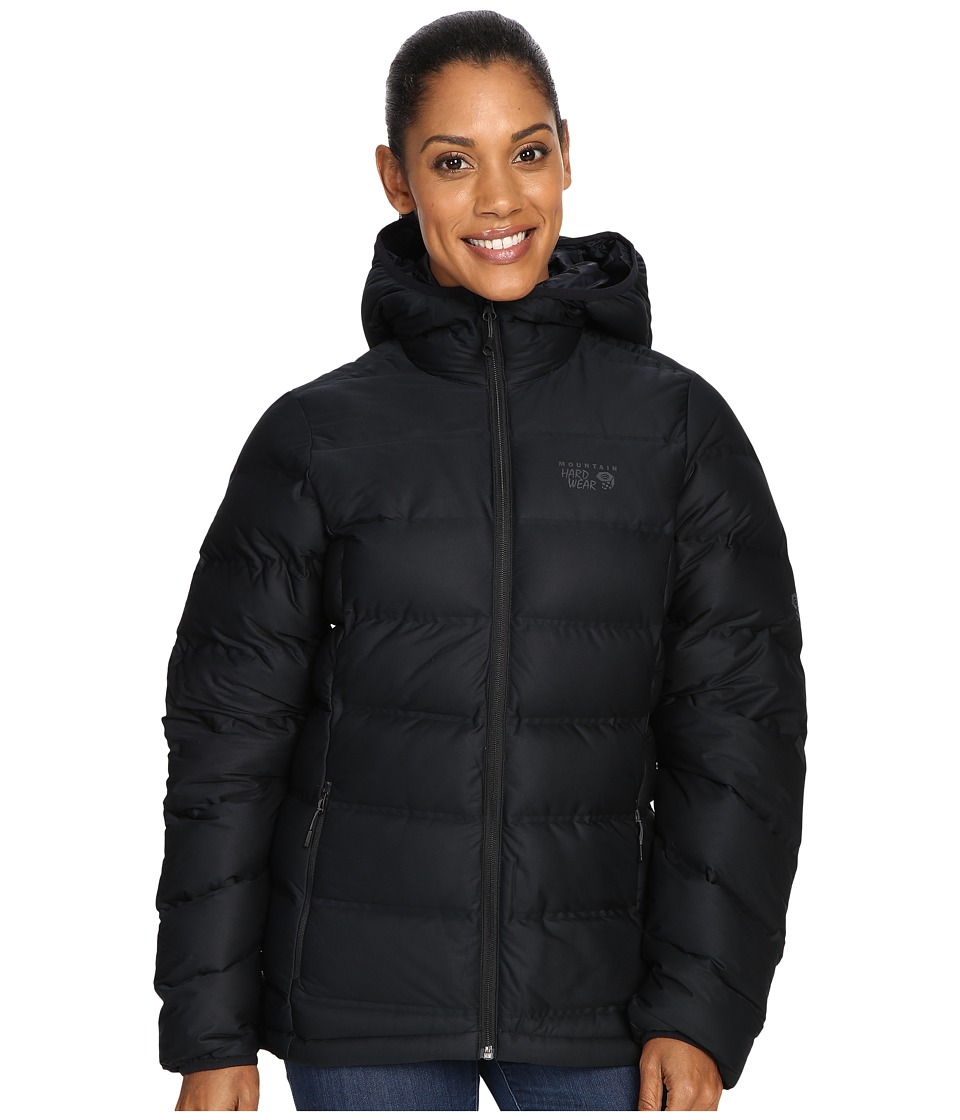 Mountain Hardwear - StretchDown Plus Hooded Jacket (Black) Women's Coat
