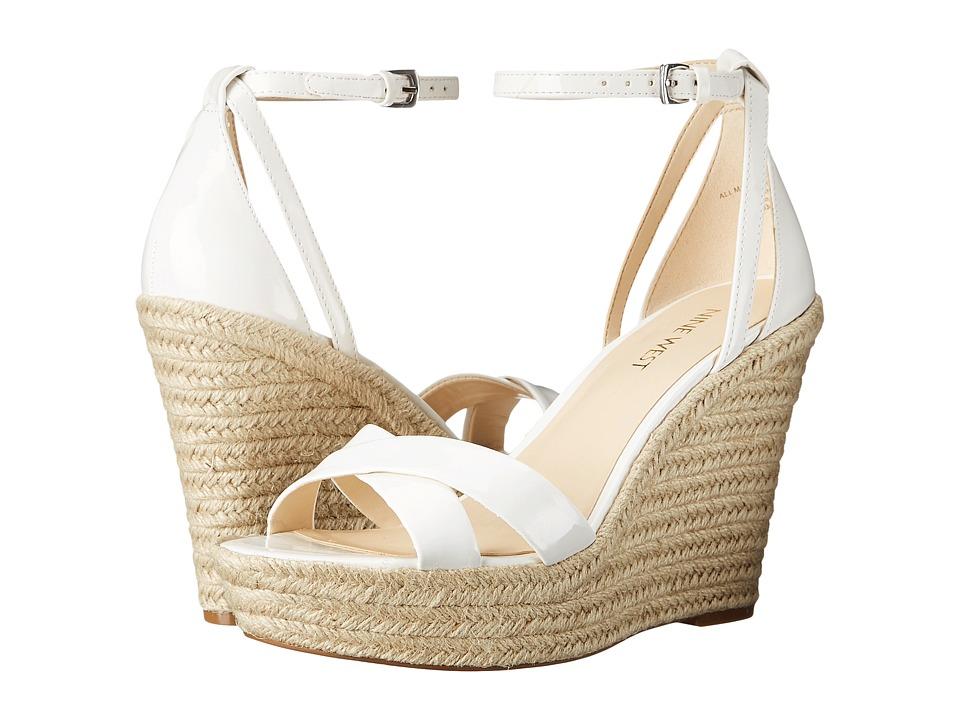 Nine West - Joker3 (White Synthetic) Women's Wedge Shoes