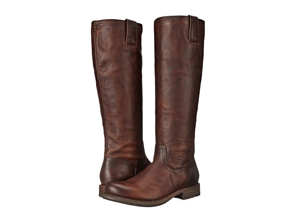 Frye - Jenna Inside Zip (Dark Brown Full Grain Leather) Women's Boots