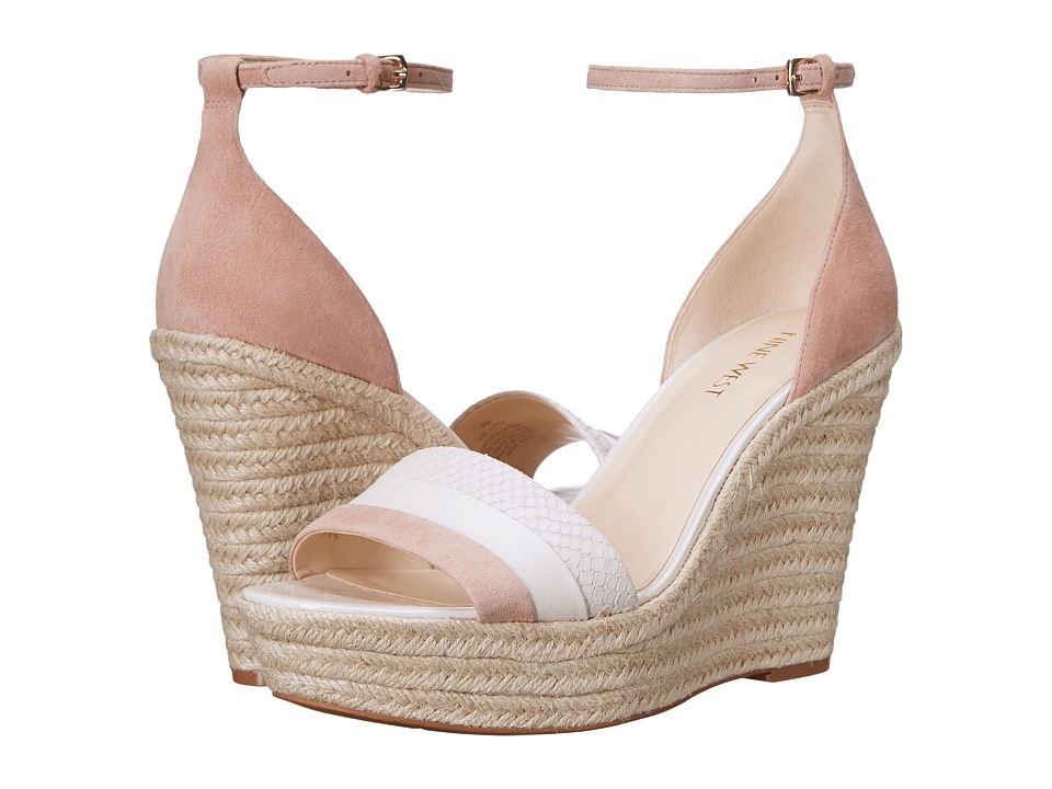 Nine West - Jutty (Natural Multi Suede) Women's Wedge Shoes