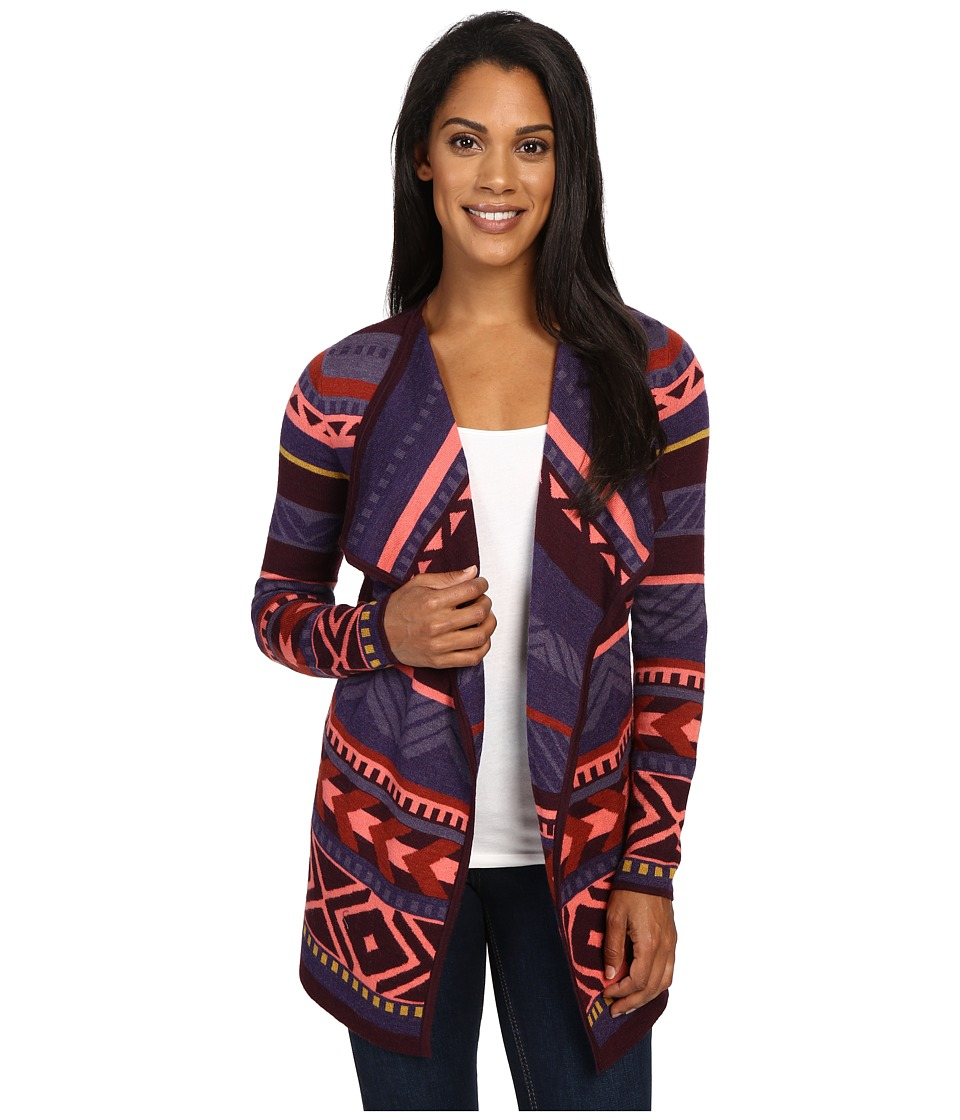 Smartwool - Camp House Wrap (Aubergine Heather) Women's Long Sleeve Pullover