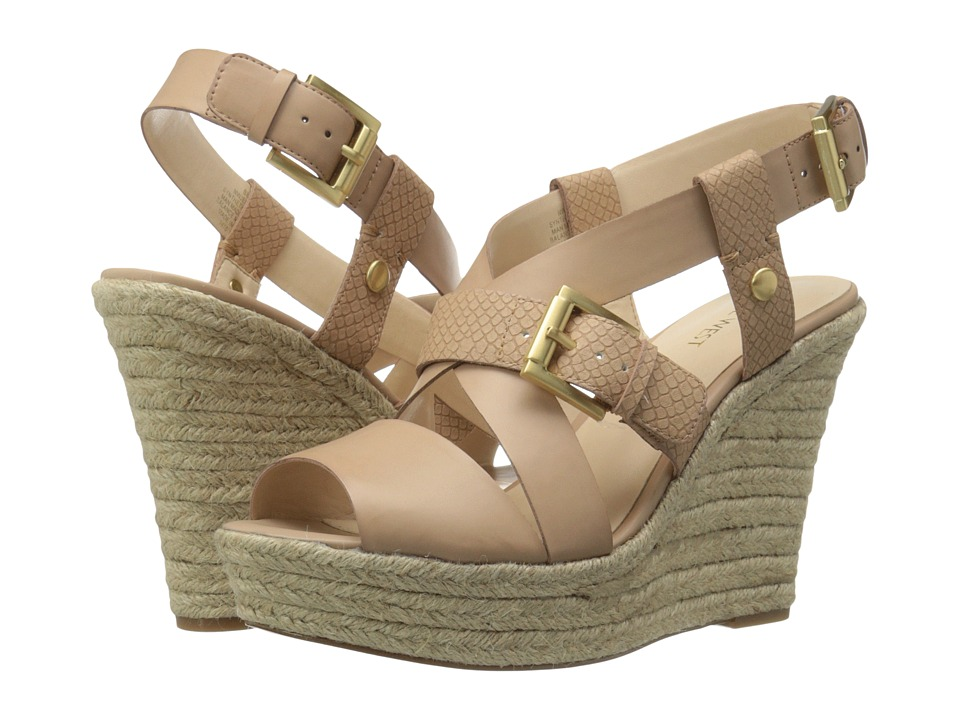 Nine West - Jentri (Natural/Natural Synthetic) Women's Wedge Shoes