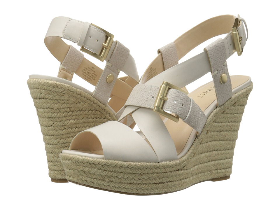 Nine West - Jentri (Off-White/Off-White Synthetic) Women's Wedge Shoes