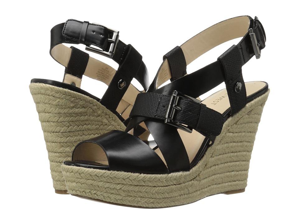 Nine West - Jentri (Black/Black Synthetic) Women's Wedge Shoes
