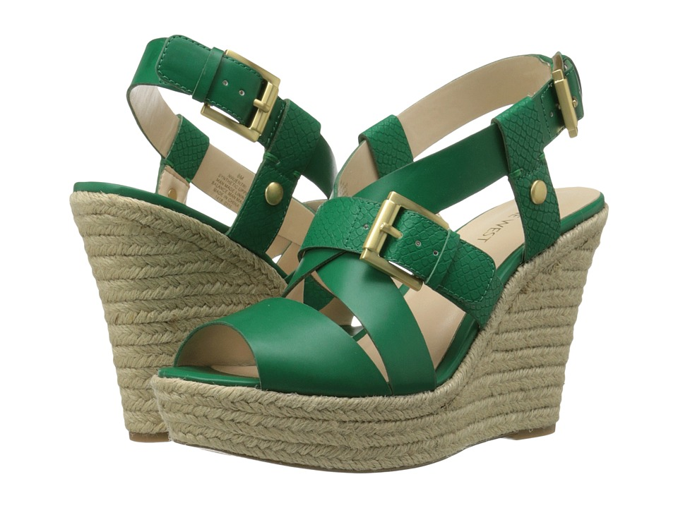Nine West - Jentri (Green/Green Synthetic) Women's Wedge Shoes