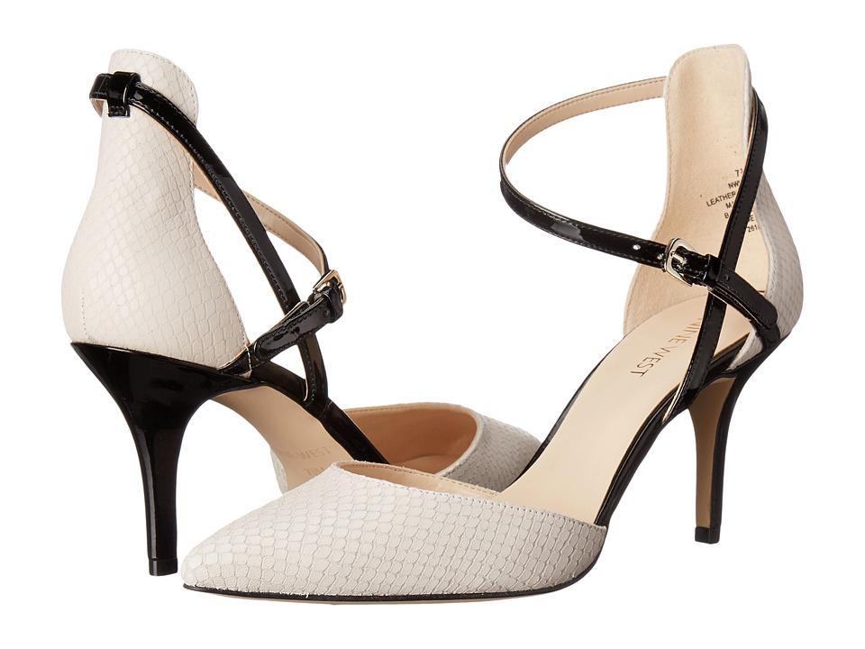 Nine West - Kalyana (Off-White/Black Leather) Women's Shoes