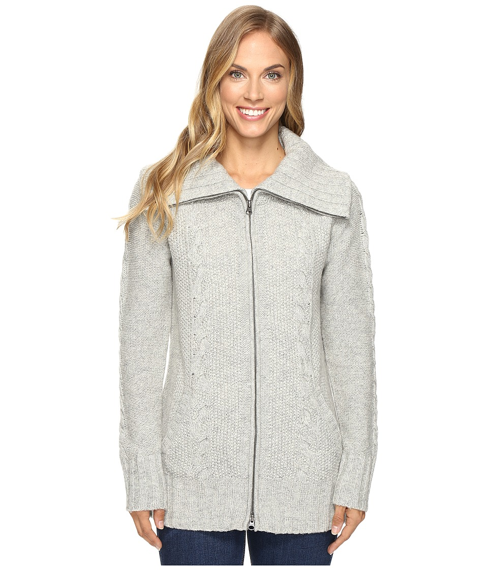Smartwool Crestone Sweater Jacket (Silver Gray Heather) Women