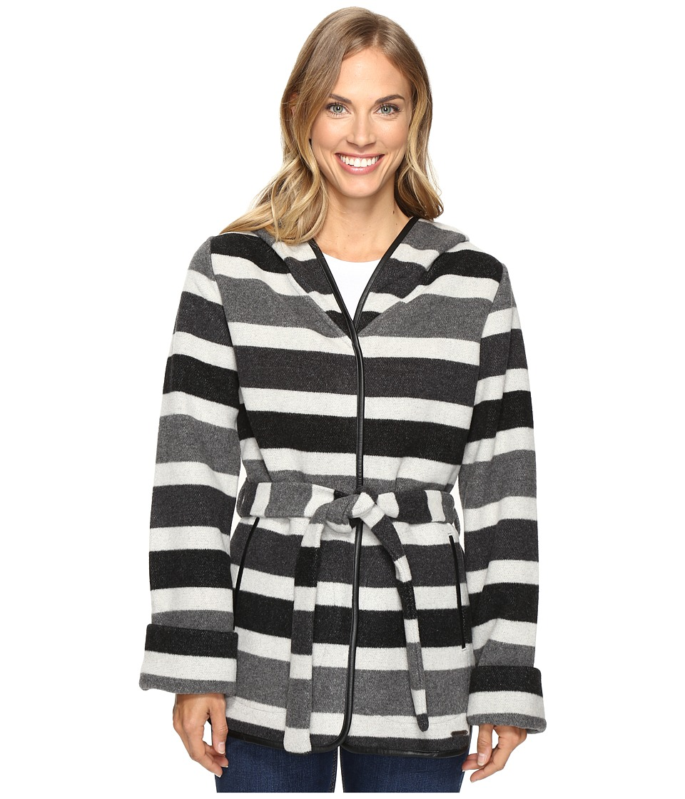 Smartwool - Nokoni Striped Jacket (Charcoal Heather) Women's Coat