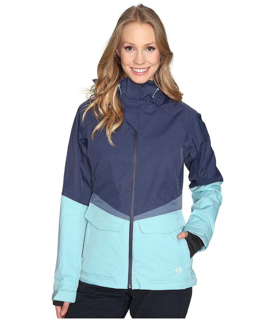 Mountain Hardwear - Returnia Jacket (Zinc/Spruce Blue) Women's Coat