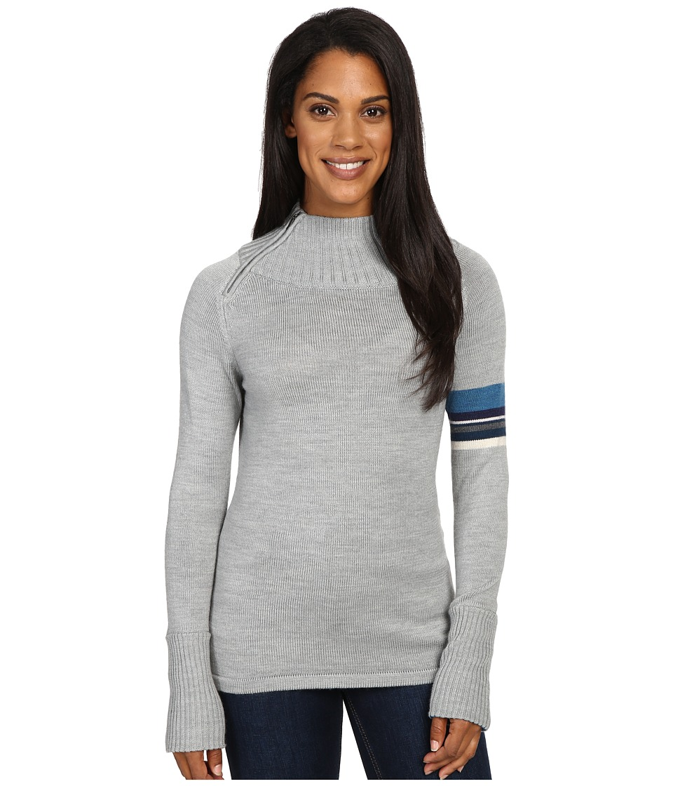 Smartwool Isto Sport Sweater (Silver Gray Heather) Women