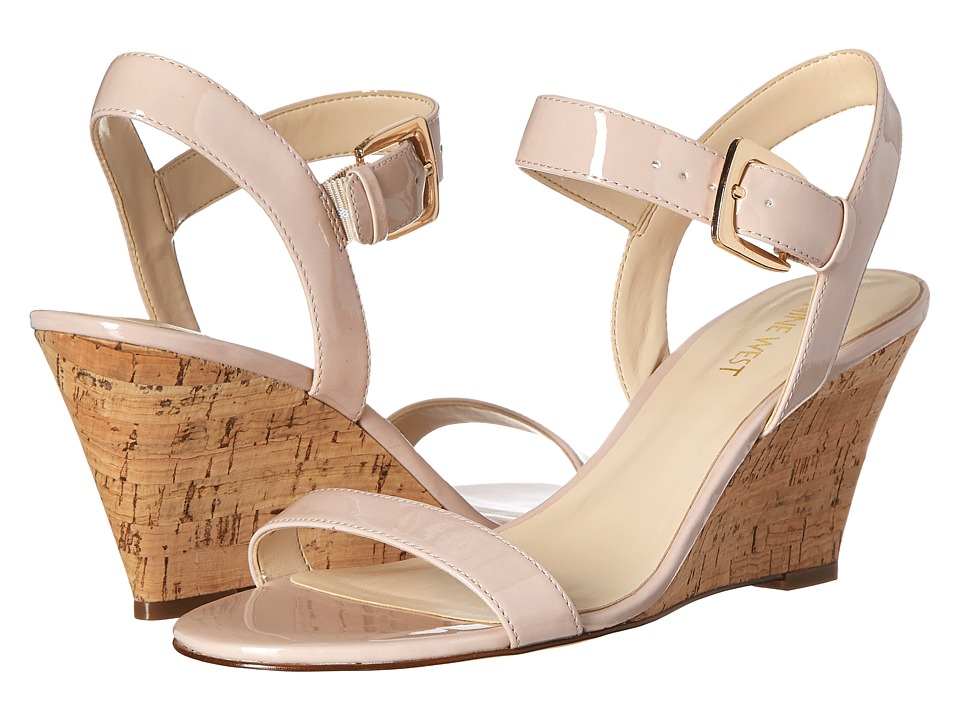 Nine West - Kiani3 (Light Natural Synthetic) Women's Wedge Shoes