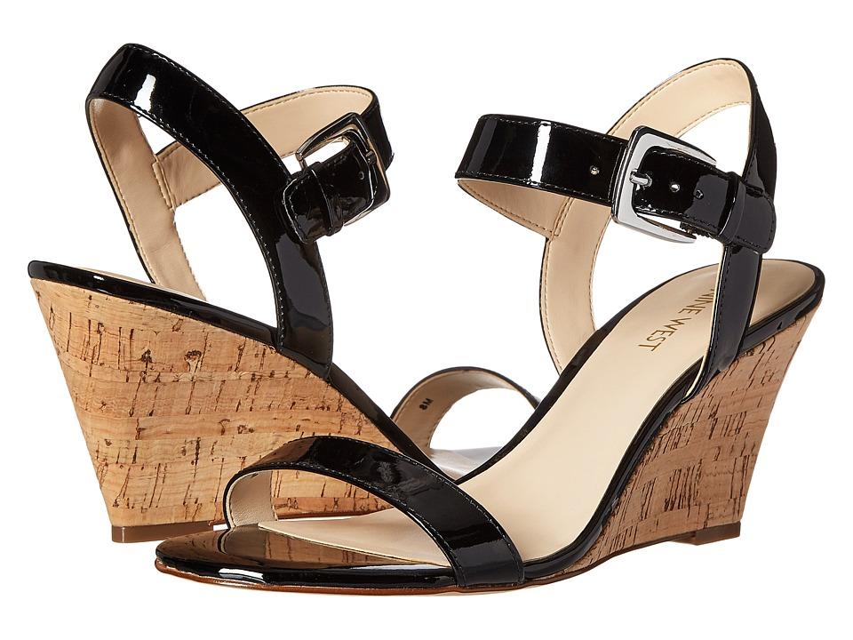 Nine West - Kiani3 (Black Synthetic) Women's Wedge Shoes