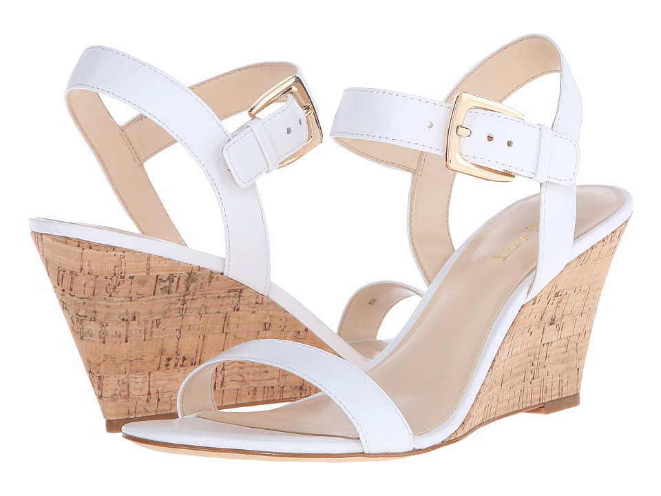 Nine West Kiani (White Leather) Women