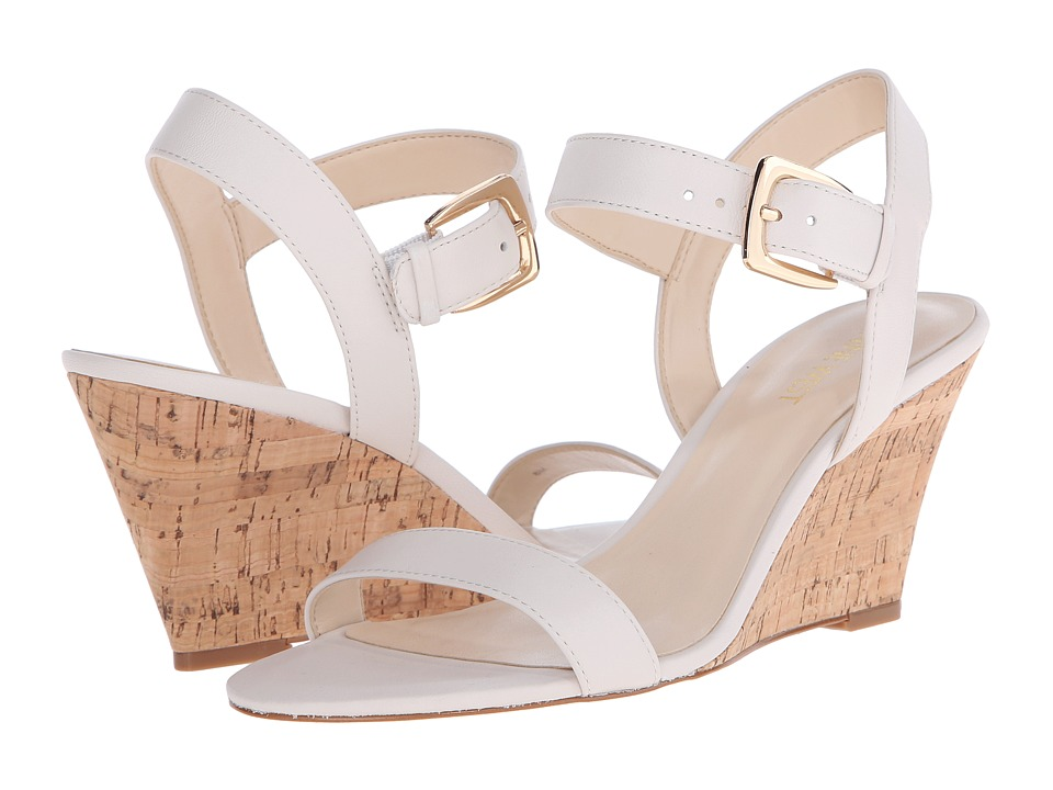 Nine West - Kiani (Off-White Leather) Women's Wedge Shoes