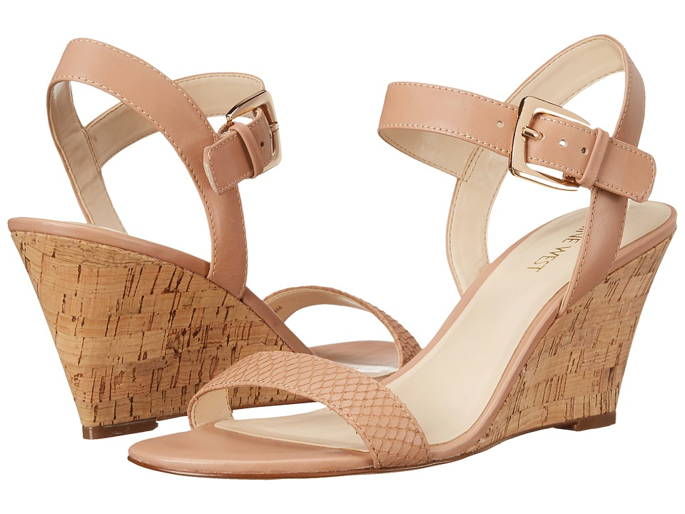 Nine West - Kiani (Natural/Natural Leather) Women's Wedge Shoes
