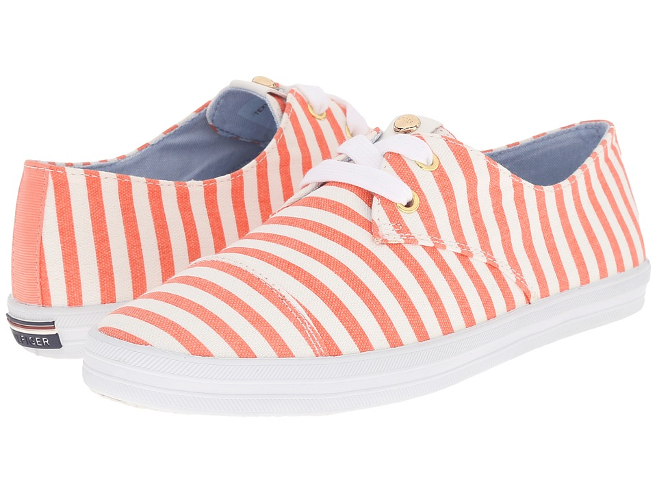 Tommy Hilfiger - Tillie (Orange/Multi White) Women's Shoes
